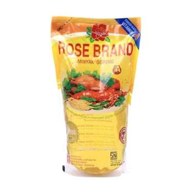 Rose Brand Minyak Goreng [Pouch/ 1000 mL/ 12 pcs]