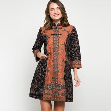 Andelly Batik 02 09 Dress Panjang Wanita