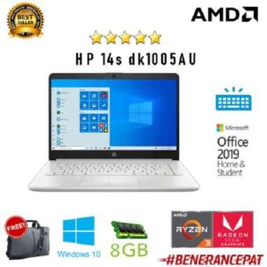 harga HP 14s dk1005AU AMD Ryzen 3 3250 8GB 1TB+256ssd Vega3 W10+OHS 14.0FHD Blibli.com