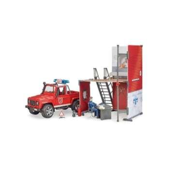 harga Bruder 62701 - bworld Fire station with Land Rover Defender Blibli.com