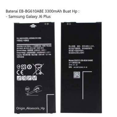 harga Original Baterai EB-BG610ABE Buat Handphone Samsung Galaxy J6 Plus Blibli.com