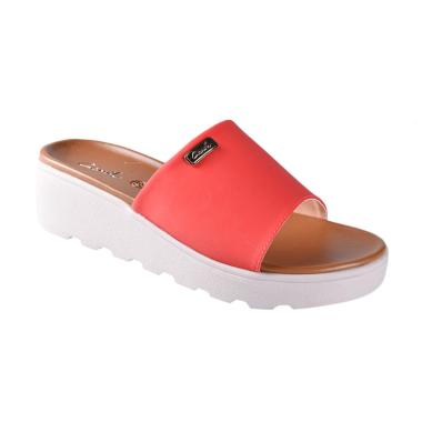 Carvil 01 Sienta Sandals Wedges Wanita - Red