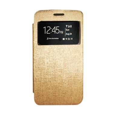 Gea Flip Cover Casing for Samsung Galaxy Ace 3 Duos - Gold