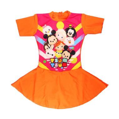 Nice ABG Motif Tsum Baju Renang Rok Anak - Orange