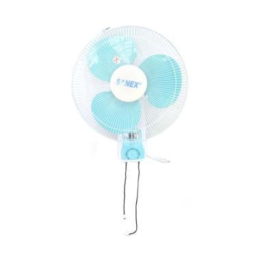 Sanex FW 1680 Wall Fan Kipas Angin - Blue [16 Inch]