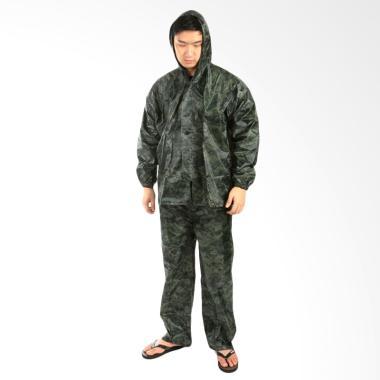 Elfs Shop Army Jas Hujan - Hijau Tua
