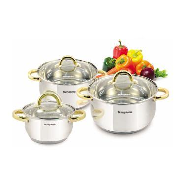 Kangaroo Cookware KG 864 Set Panci [3 Set]