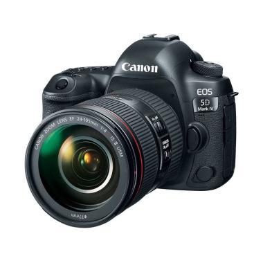 Canon EOS 5D Mark IV Kit 24-105mm F/4 L II Wifi Kamera DSLR - Black