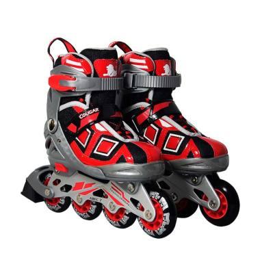 Cougar ADJ.Inline Skate W-ABEC7 MZS839 Sepatu Roda - Red  38- 8bed956ccf