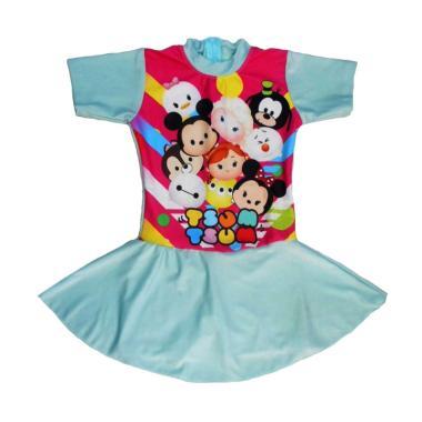 Nice Motif Tsum Rok Baju Renang Anak - Mint