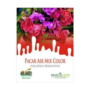Maica Leaf Bunga Pacar Air Mix Color [20 Benih]