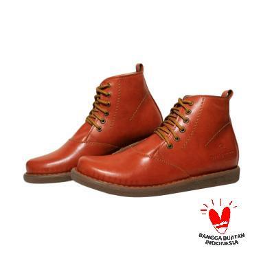 Handmade Dr Becco Morris Boots Pria - Tan