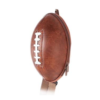 J&J Kids American Football Backpack - Brown