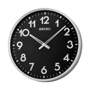 Seiko QXA560A Wall Clock Jam Dinding - Black [42 cm]