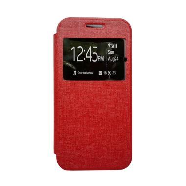 harga Zagbox Flip Cover Casing for Xiaomi Redmi Mi4i - Merah Blibli.com