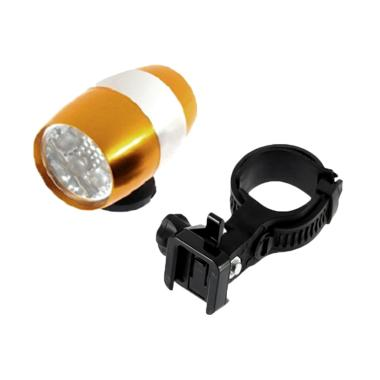Apan 6 LED Lampu Sepeda Mini - Gold [1 pcs]