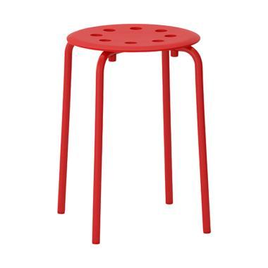 Ikea Marius Kursi atau Bangku Susun - Red