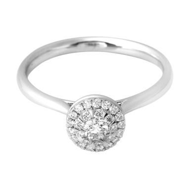 LINO S1702210042 VVS Cincin Berlian Emas Putih [18K]