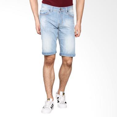 LGS Men Slim Fit Jeans Pendek Celana Pria - Biru JSS.318.P025.