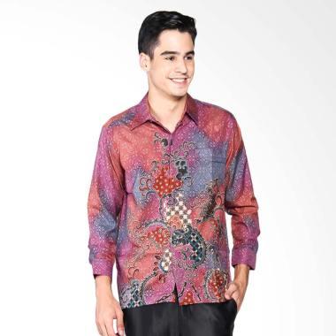 Batik Adikusuma Men Kemeja Batik Ri ... san Pria - Ungu 822325116
