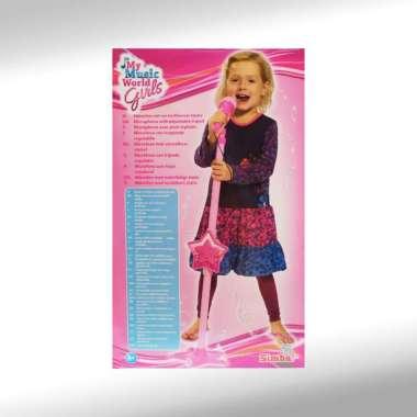 harga Simba My Music World Girls Microphone With Adjustable Tripod Stand Blibli.com