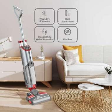 NUNA Vacuum Ultimate 7 Multifunction Floor Cleaner Red Rose Gray