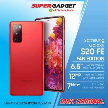 Samsung Galaxy S20 FE Fan Edition RAM 8GB ROM 128GB 8/128 8GB 128GB - Garansi Resmi - ORIGINAL SEIN Red