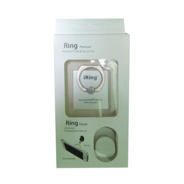 iRing Universal Mobile Phone Ring Stand With Hook White