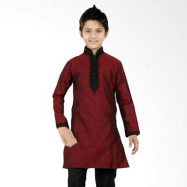 GBS.Sens Embordiery Jeans Setelan Pakaian Koko Anak - Red Black