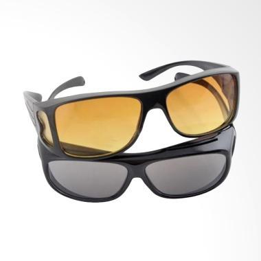DQueeny Shop kacamata HD Vision isi 2pcs siang & malam