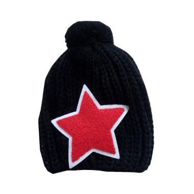 Mom Star Knitted Hat Topi Rajut Anak - Black
