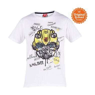 Transformers Bumblebee Super Charge T-Shirt Anak Laki-laki - White