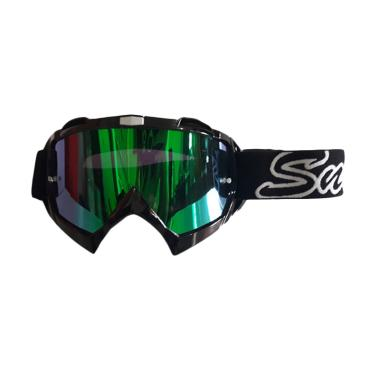 Snail Helmet MX 18 Kacamata Goggle - Revo Green
