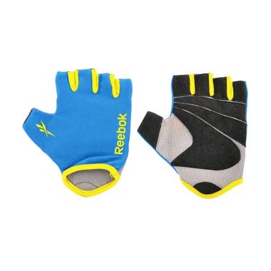 Reebok Gloves Fitness Sarung Tangan - Blue [Size L]
