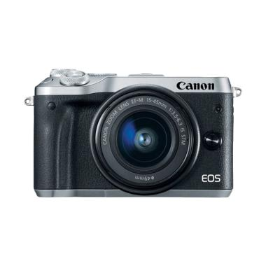 Canon EOS M6 Kit 15-45mm Kamera Mirrorless - Silver