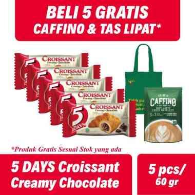 harga WHS - SMG/JOG/SOLO - 5 Days Croissant Creamy Chocolate Roti [60 g/5 pcs] + FREE Caffino & Tas Lipat (random) Blibli.com