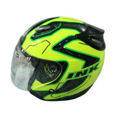 harga Helm Half Face INK Centro JET SPR FLuo #1 - YEL FL-BK-GRN FL Blibli.com