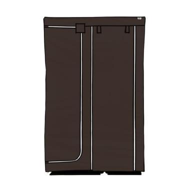 Nine box DW Lemari Pakaian - Dark Brown [2 Pintu]