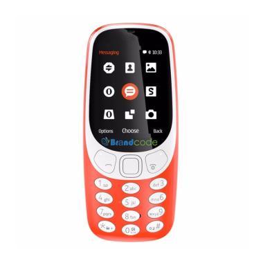 Brandcode B3310 Handphone - Merah [Dual Sim GSM]