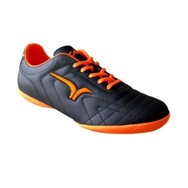 Calci Wrath Sepatu Futsal - Black Orange