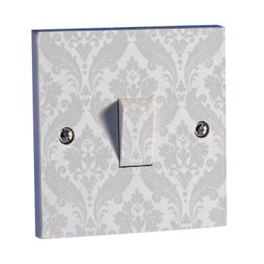 OEM Motif Batik Saklar Lampu Stiker - Soft Abu