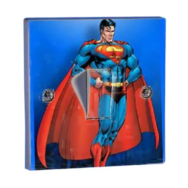 OEM Superman Super Tombol Lampu Saklar Lampu Sticker
