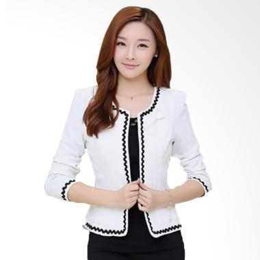 JCFashion EVE with Lace Long Sleeve Blazer Wanita - White