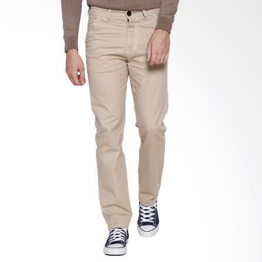 Oliveinch Slim Tapered Basic Long Chino Pants - Cream