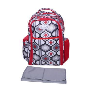Elle Diaper Bag Tribal Backpack Tas Bayi - Merah Abu Abu
