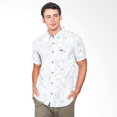 Rip Curl Jungle Line S/S Short Sleeves Shirt Pria - White CSHCD9