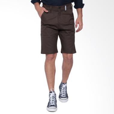 Oliveinch Short Chino Celana Pria - Darkbrown