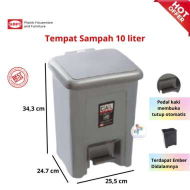 harga Tempat Sampah Injak / Step on Dustbin 10ltr 710 Shinpo Blibli.com