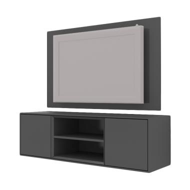 HighPoint PCI004-04 Case Cabinet with TV Panel - Dark Grey [Pre-Order]