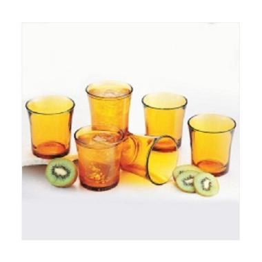 Duralex Tumbler Set Gelas - Amber [21 CL/210 mL/ 6 pcs]